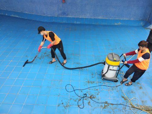 Hình ảnh vệ sinh bể PCCC khu công nghiệp của Làm sạch 5s